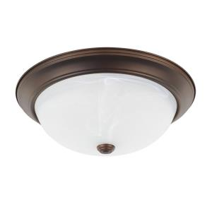 3 Light Flush Mount 5.13 Inch 3 Light Flush Mount - in Transitional style - 14 high by 5.13 wide