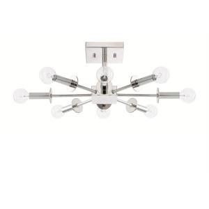 City - Eight Light Convertible Semi-Flush Mount
