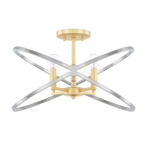 Fire  and  Ice - Four Light Semi-Flush Mount