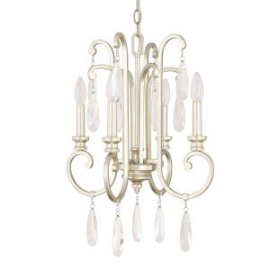 Cambridge Chandelier 4 Light Winter Gold Steel
