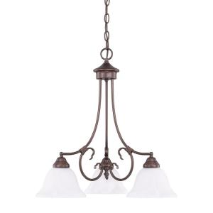 HomePlace/Hometown Chandelier 3 Light Bronze Steel