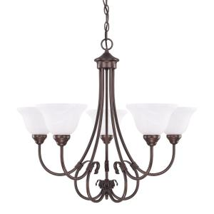 HomePlace/Hometown - Chandelier 5 Light Bronze Steel - in Traditional style - 29 high by 27 wide