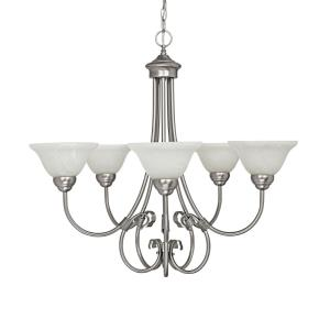 Hometown Chandelier 5 Light Matte Nickel