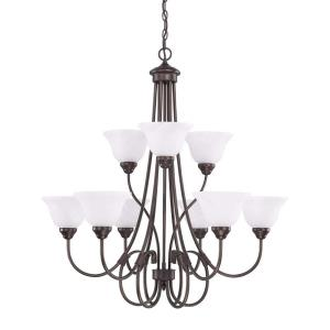 HomePlace Chandelier 9 Light Bronze Steel
