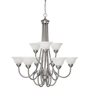 Hometown Chandelier 9 Light Matte Nickel