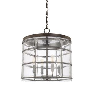 Colby - 4 Light Pendant - in Industrial style - 15.25 high by 16.5 wide