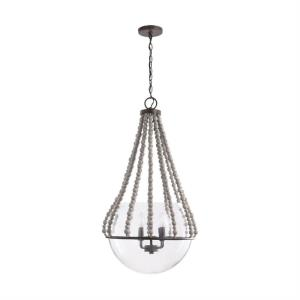 19 Inch 4 Light Pendant - in Transitional style - 19 high by 35.5 wide
