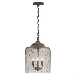 19 Inch 3 Light Pendant - in Urban/Industrial style - 12.5 high by 19 wide