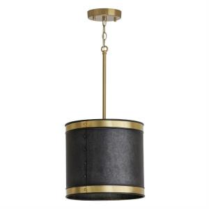 Barrow - 1 Light Pendant - in Urban/Industrial/Industrial/Farmhouse/Rustic style - 12 high by 11 wide