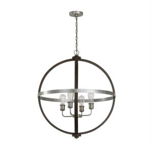 Ashton - 4 Light Pendant - in Urban/Industrial/Industrial/Farmhouse/Rustic/Mixed Materials style - 26.5 high by 32.5 wide