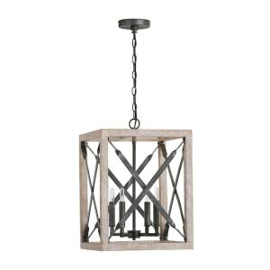 Remi - 4 Light Pendant - in Urban/Industrial style - 15 high by 21.5 wide