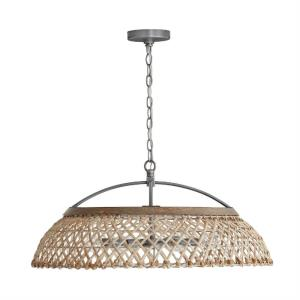 6 Light Pendant - in Urban/Industrial style - 29 high by 13 wide