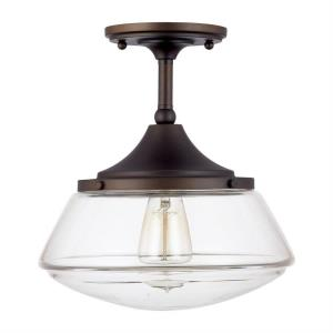 Schoolhouse - One Light Semi-Flush Mount