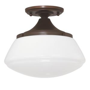Schoolhouse - 9.25 Inch One Light Flush Mount
