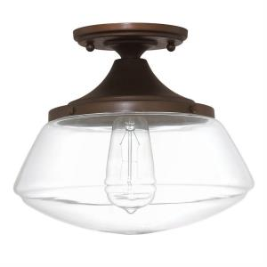 Schoolhouse - One Light Flush Mount