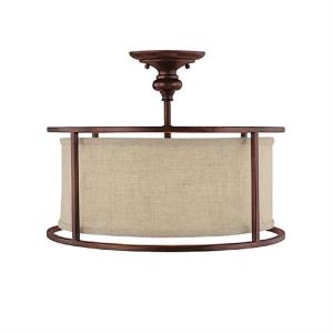 Midtown - 3 Light Semi-Flush Mount - in Transitional style - 17 high by 13 wide