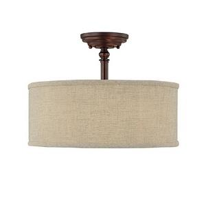 Loft - Three Light Semi-Flush Mount