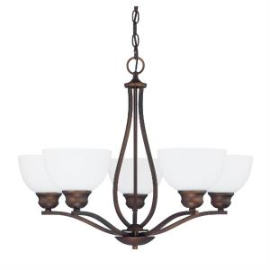 Stanton - Chandelier 8 Light Brushed Nickel Steel - in Transitional style - 27 high by 20.5 wide
