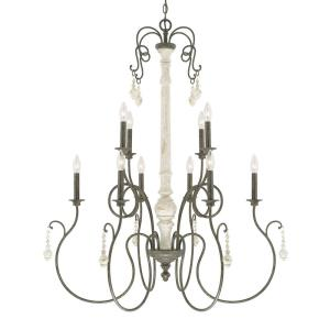 Vineyard 2-Tier Chandelier 10 Light French Country Steel