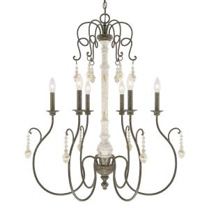 Vineyard Chandelier 6 Light French Country Steel