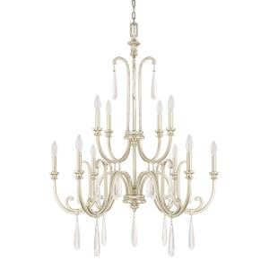 Cambridge 2-Tier Chandelier 10 Light Winter Gold Steel