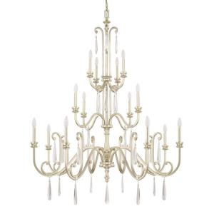 Cambridge - 3-Tier Chandelier 3 Light Winter Gold Steel - in Traditional style - 49.5 high by 62 wide