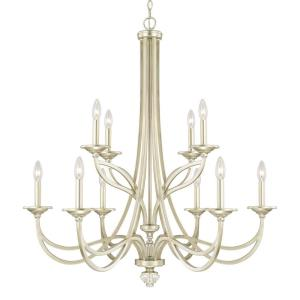 Windsor 2-Tier Chandelier 10 Light Soft Gold Steel