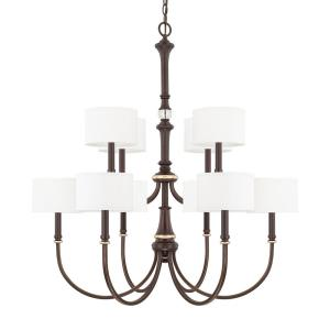 Asher - Ten Light 2-Tier Chandelier