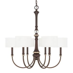Asher - 30 Inch Six Light Chandelier