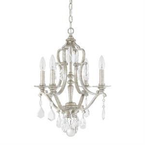 Blakely - Mini Chandelier 4 Light Antique Silver  - in Traditional style - 18 high by 21.5 wide