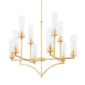 Regan Chandelier 10 Light Capital Gold Steel