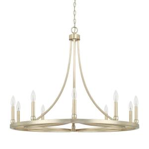 Mercer Chandelier 10 Light Winter Gold Steel