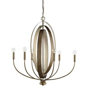 Dahlia Chandelier 5 Light Silver/Bronze