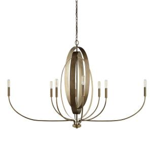 Dahlia Chandelier 8 Light Silver/Bronze