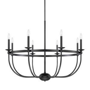Rylann - Chandelier 8 Light Matte Black  - in Industrial style - 38 high by 70.5 wide