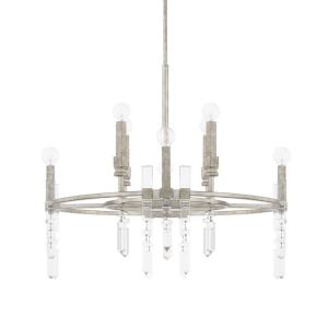 Drake Chandelier 8 Light Antique Silver