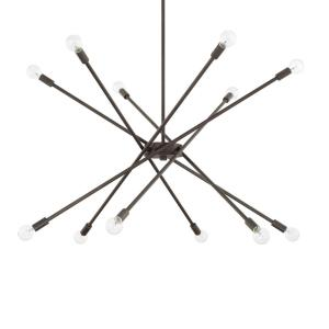 Chandelier 12 Light Nordic Grey