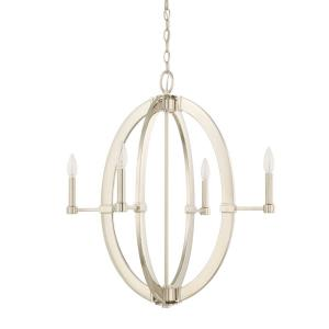 Chandelier 4 Light Polished Nickel