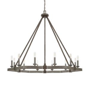 Zac Chandelier 12 Light Urban Grey