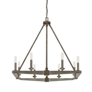 Zac Chandelier 8 Light Urban Grey