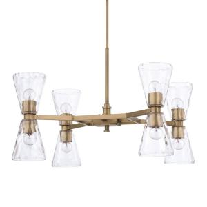 Lyra Chandelier 8 Light Aged Brass