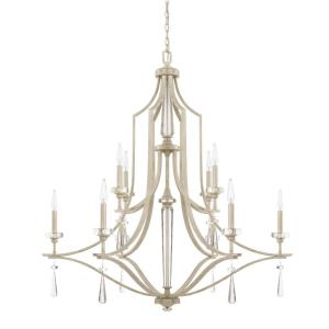 Serena - 2-Tier Chandelier 10 Light Winter White  - in Transitional style - 43 high by 45.25 wide