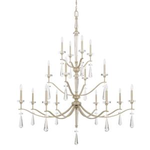 Serena - 3-Tier Chandelier 3 Light Winter White  - in Transitional style - 59.5 high by 67 wide