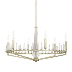 Adira Chandelier 6 Light Winter Gold