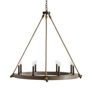 Tybee Chandelier 8 Light Nordic Grey