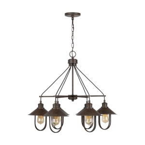 Pawley Chandelier 6 Light Mineral Brown Metal