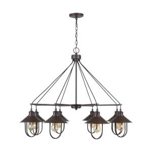 Pawley Chandelier 8 Light Mineral Brown Metal