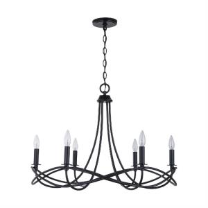 Sonnet Chandelier 6 Light Matte Black Metal
