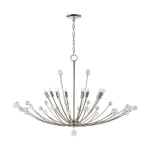 Audra Chandelier 8 Light Polished Nickel Metal