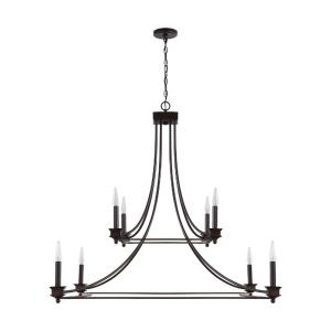 Marlow Chandelier 8 Light Old Bronze Metal
